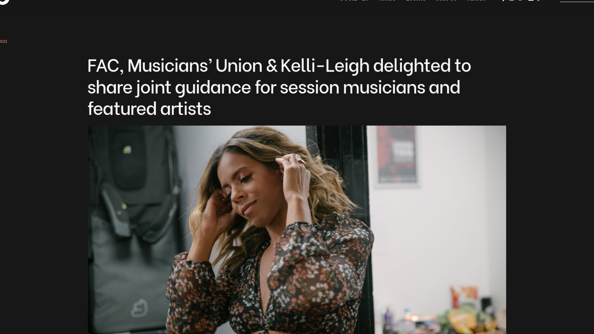 Fairness Rocks News FAC, Musicians' Union & Kelli-Leigh delighted to share joint guidance for session musicians and featured artists