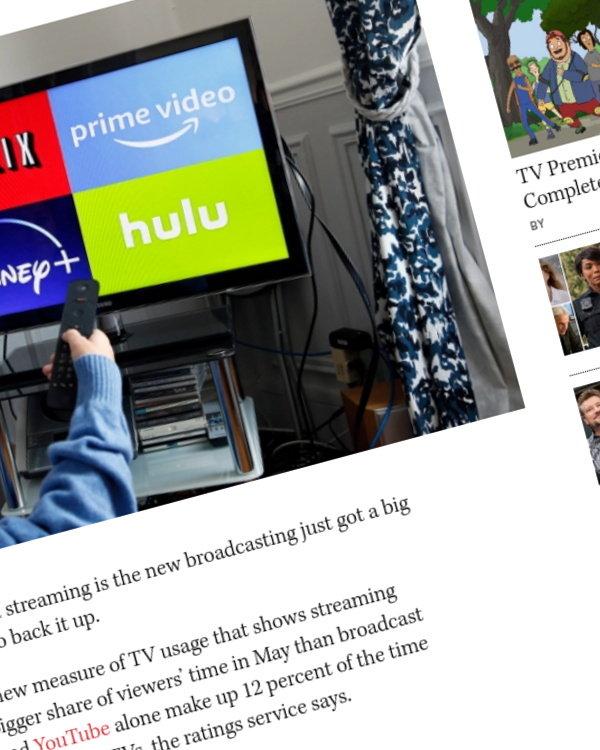 Fairness Rocks News Streaming Outdraws Broadcast TV, Nielsen Figures Say
