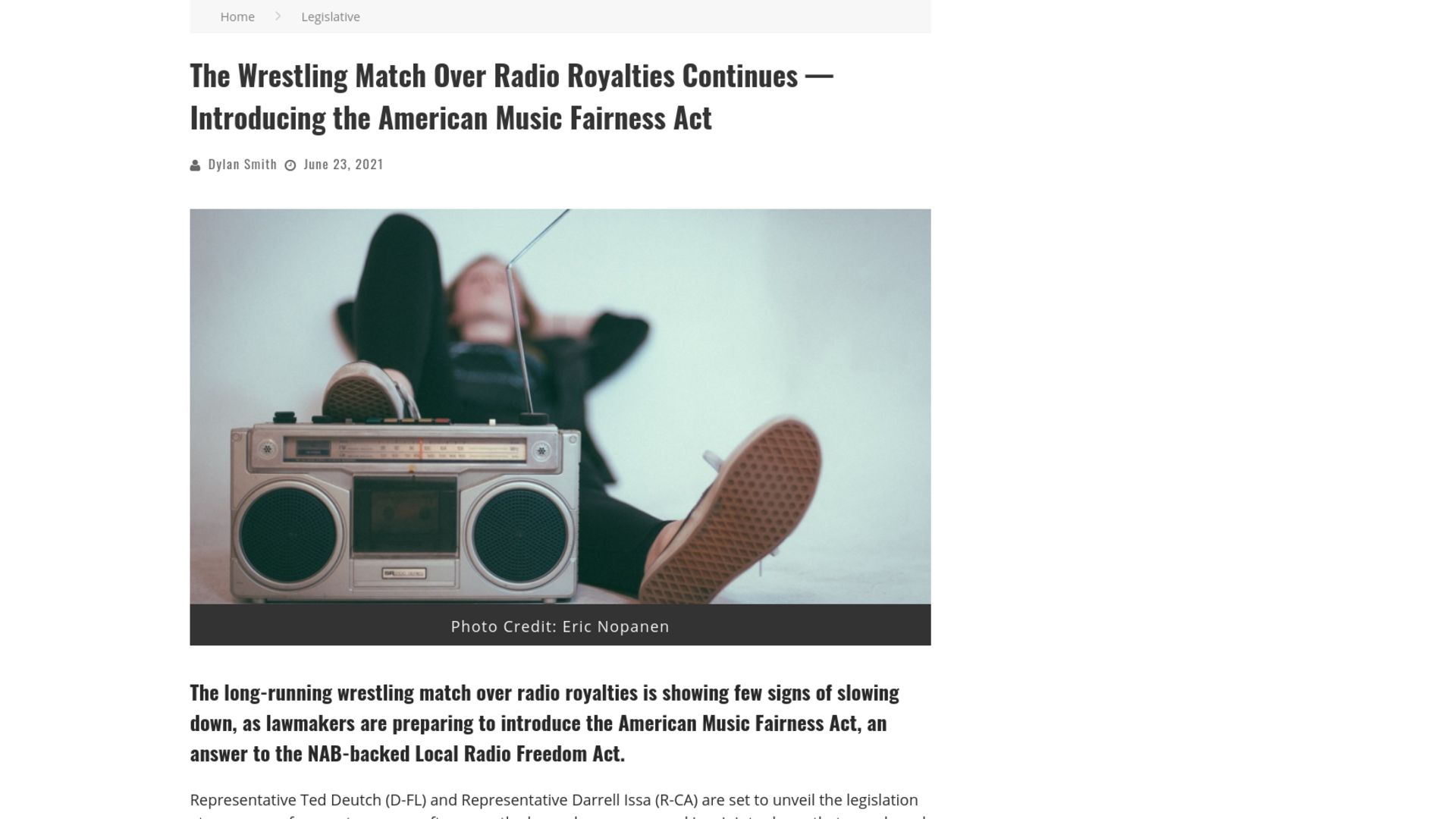Fairness Rocks News The Wrestling Match Over Radio Royalties Continues — Introducing the American Music Fairness Act