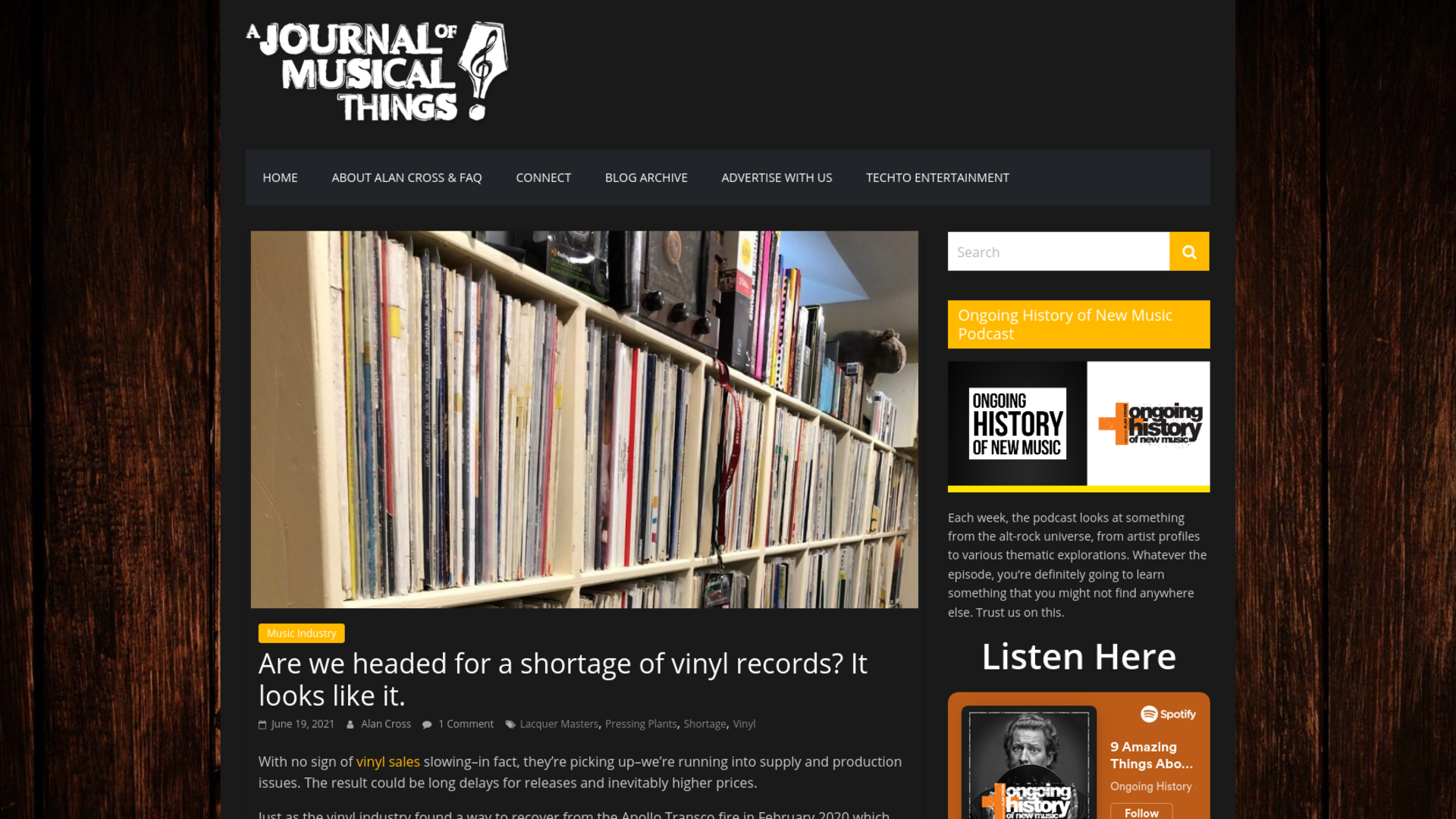 Fairness Rocks News Are we headed for a shortage of vinyl records? It looks like it.