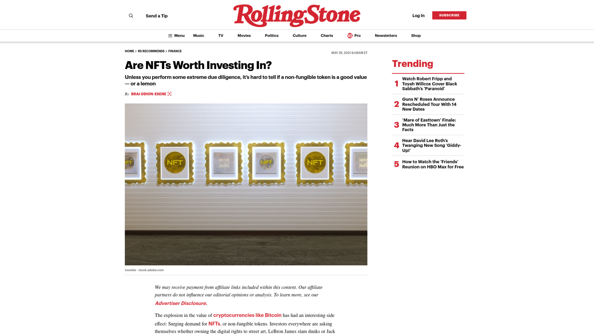 Fairness Rocks News Are NFTs Worth Investing In?