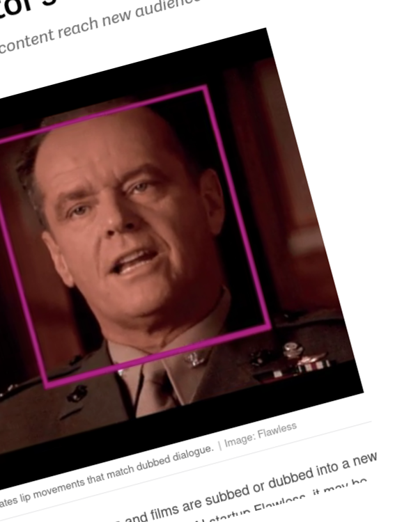 Fairness Rocks News Deepfake dubs could help translate film and TV without losing an actor's original performance