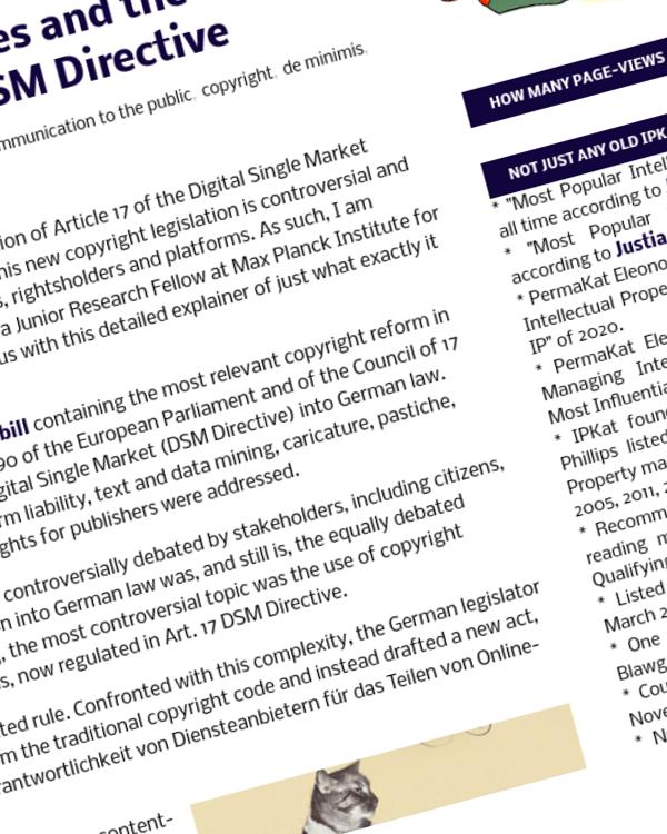 Fairness Rocks News De minimis uses and the German implementation of Art 17 DSM Directive
