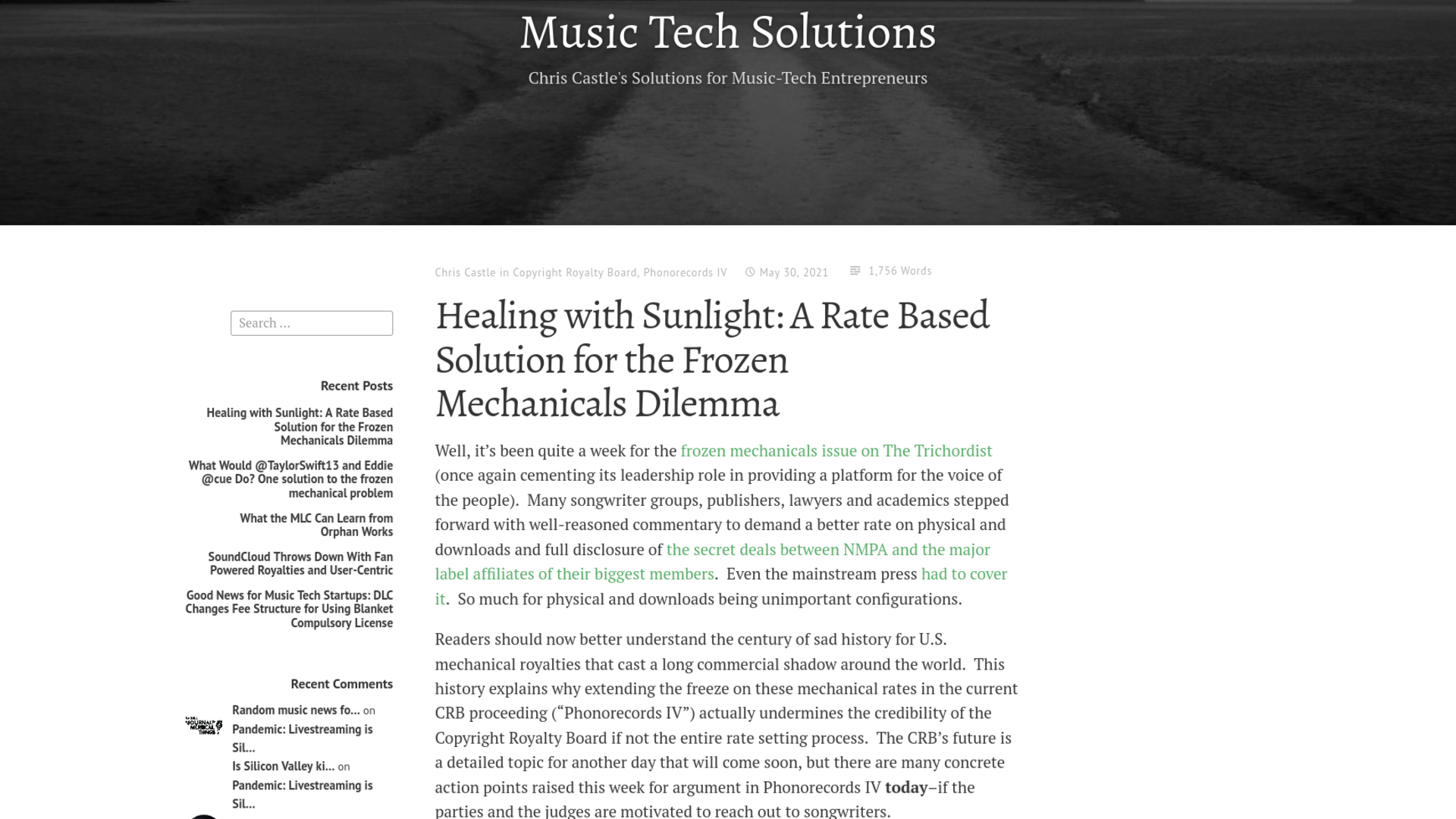 Fairness Rocks News Healing with Sunlight: A Rate Based Solution for the Frozen Mechanicals Dilemma
