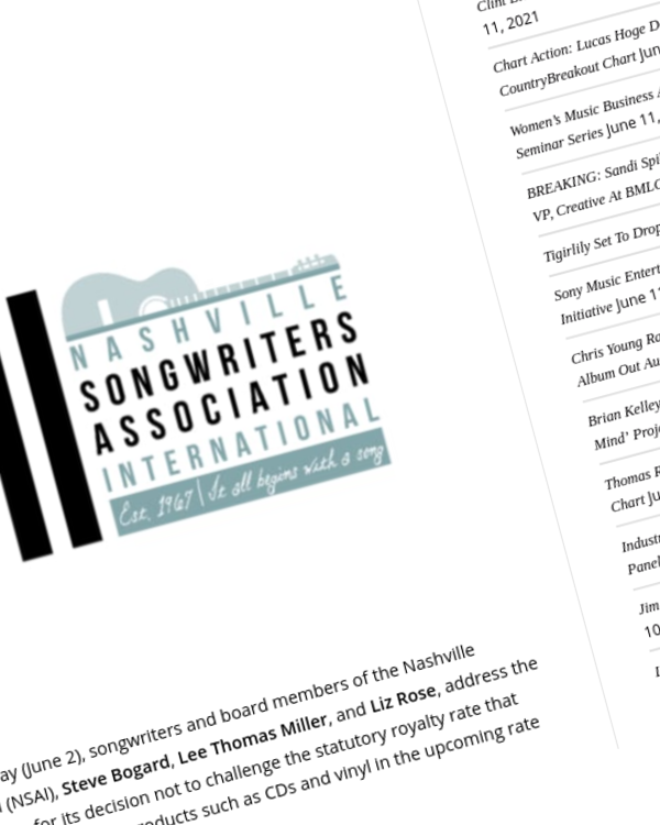 Fairness Rocks News NSAI Songwriters Respond To Criticism Of Decision Not To Challenge Physical Royalty Rates