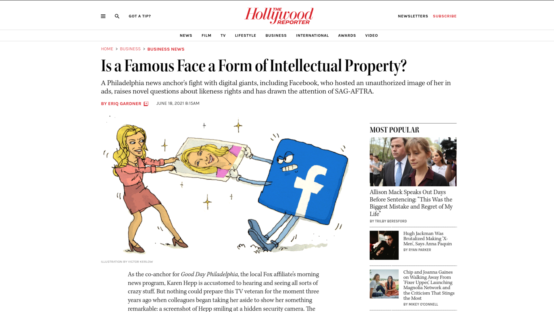Fairness Rocks News Is a Famous Face a Form of Intellectual Property?
