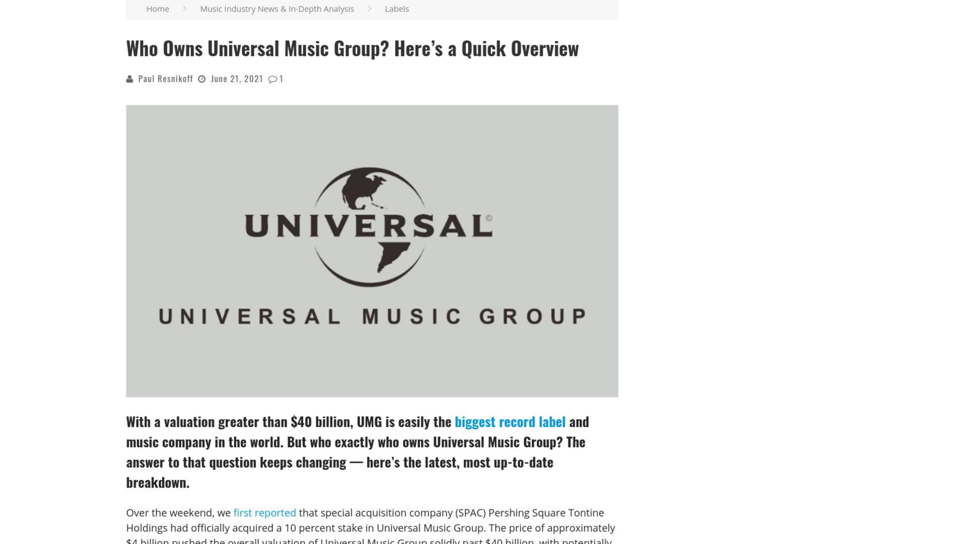 Fairness Rocks News Who Owns Universal Music Group? Here's a Quick Overview