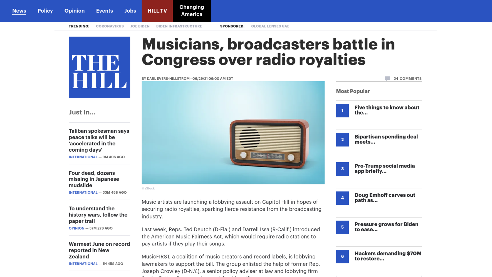 Fairness Rocks News Musicians, broadcasters battle in Congress over radio royalties