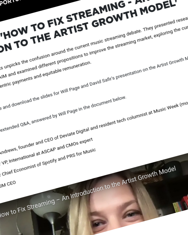 Fairness Rocks News Watch back 'How to Fix Streaming – An Introduction to the Artist Growth Model'