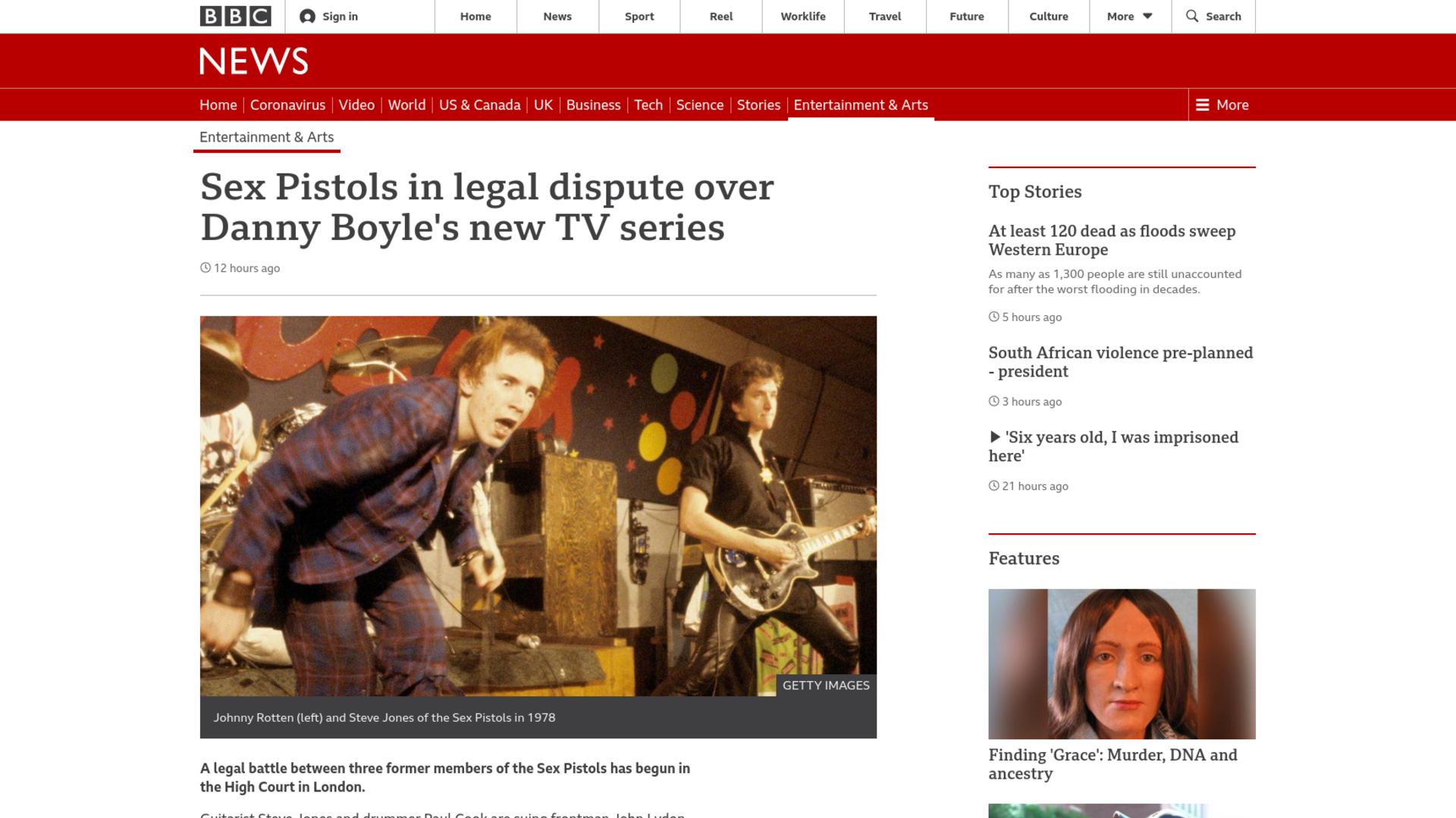 Fairness Rocks News Sex Pistols in legal dispute over Danny Boyle's new TV series