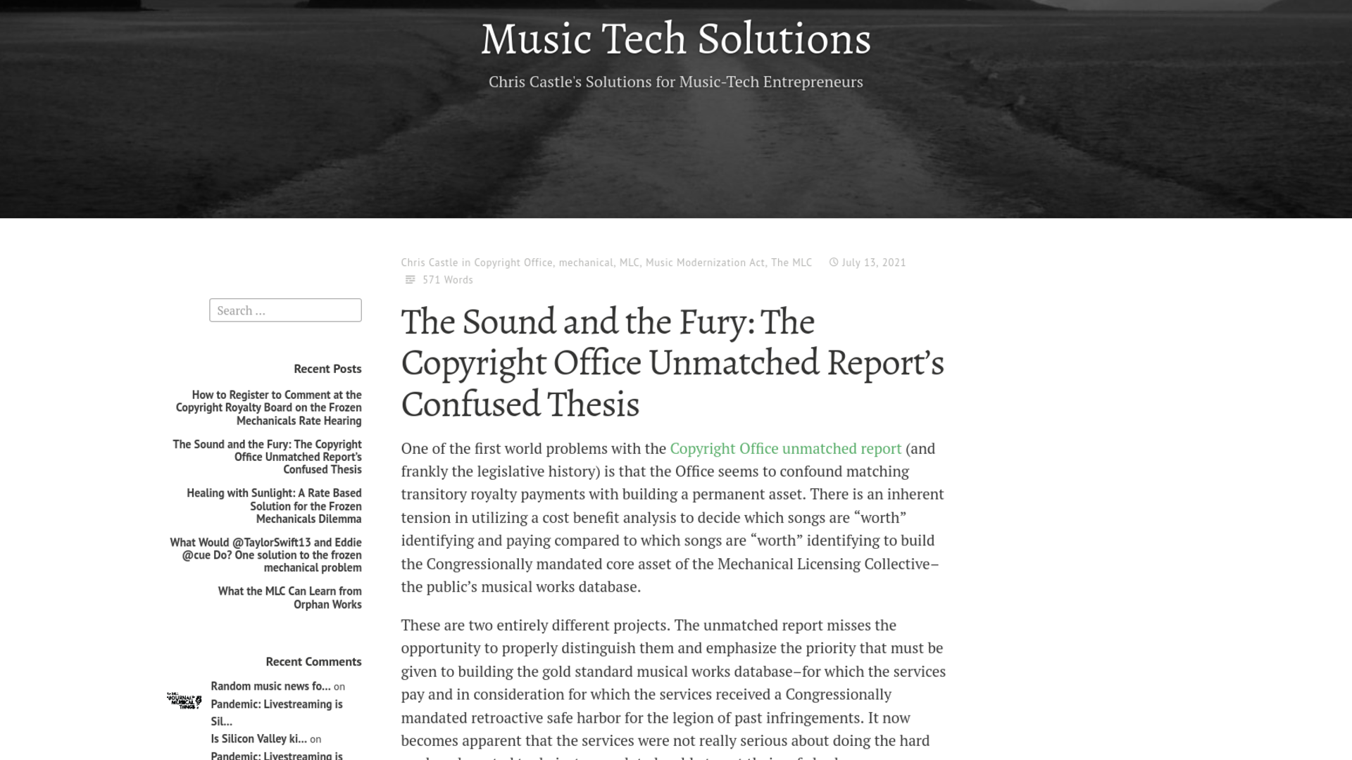 Fairness Rocks News The Sound and the Fury: The Copyright Office Unmatched Report's Confused Thesis