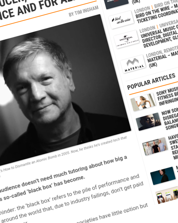 Fairness Rocks News Could this technology, built by a Grammy-winning producer, blow up music's 'black box' once and for all?