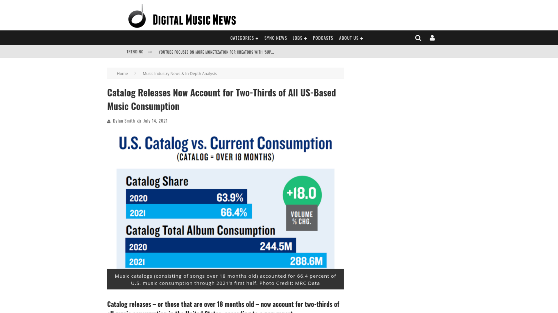 Fairness Rocks News Catalog Releases Now Account for Two-Thirds of All US-Based Music Consumption