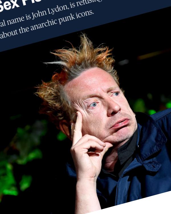 Fairness Rocks News Anarchy in UK court? Singer Johnny Rotten sued by ex-Sex Pistols