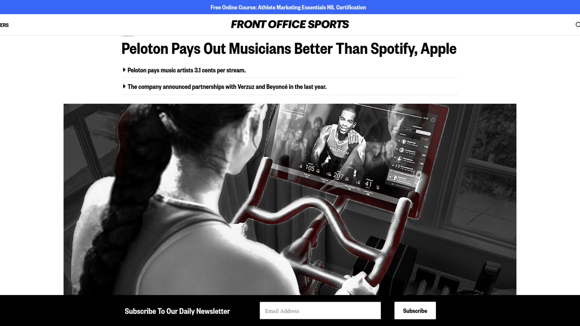 Fairness Rocks News Peloton Pays Out Musicians Better Than Spotify, Apple