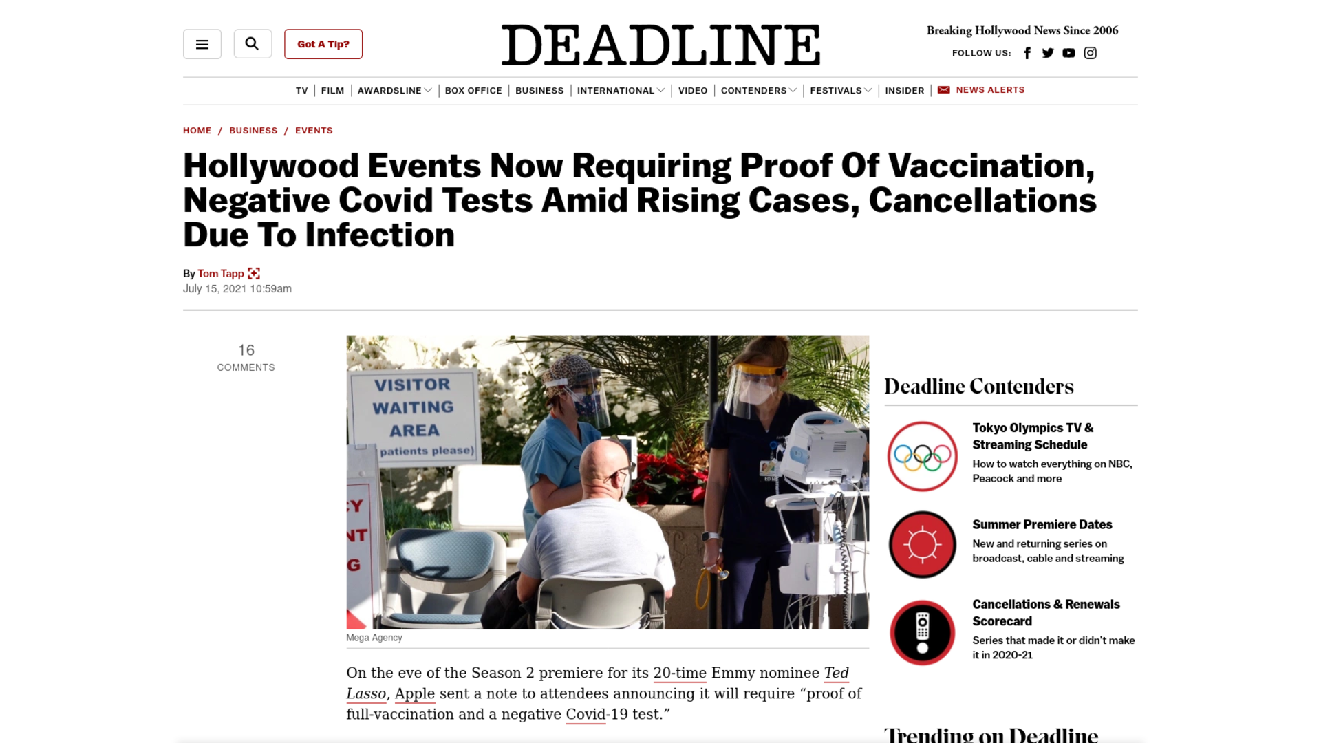 Fairness Rocks News Hollywood Events Now Requiring Proof Of Vaccination, Negative Covid Tests Amid Rising Cases, Cancellations Due To Infection