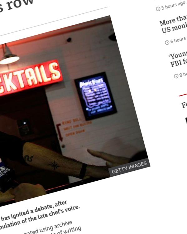 Fairness Rocks News AI narration of chef Anthony Bourdain's voice sparks row