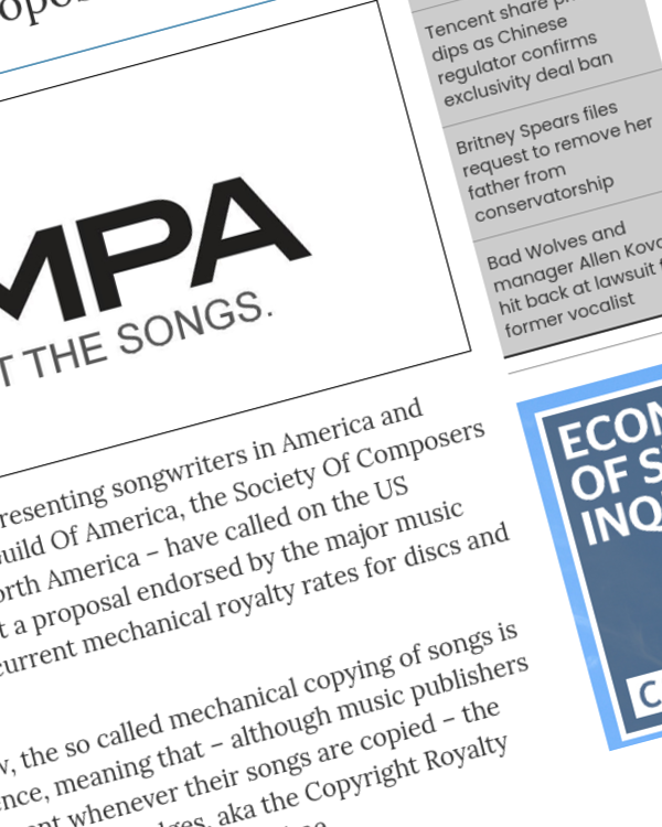Fairness Rocks News Songwriter groups formally call on US Copyright Royalty Board to reject NMPA's mechanical royalty rate proposals