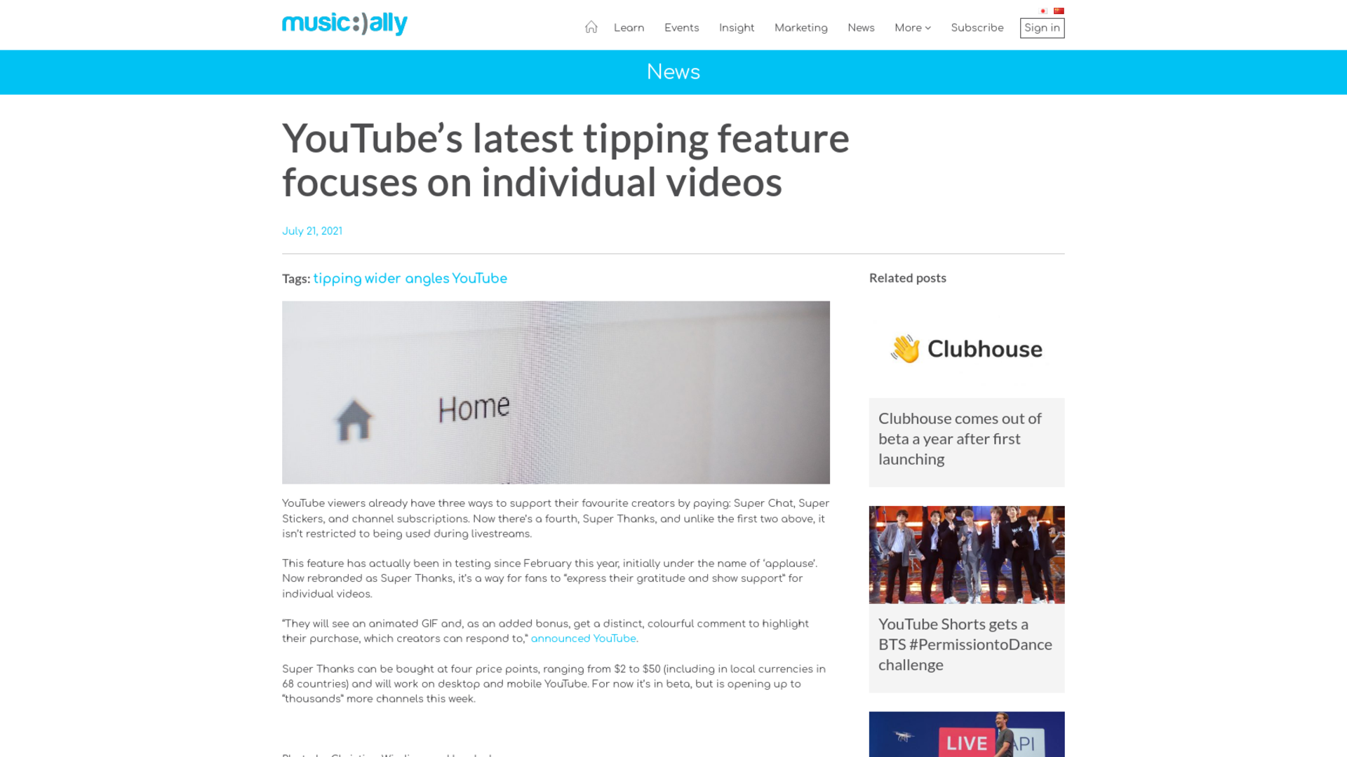 Fairness Rocks News YouTube's latest tipping feature focuses on individual videos
