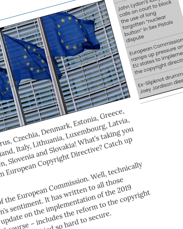 Fairness Rocks News European Commission ramps up pressure on EU states to implement the copyright directive