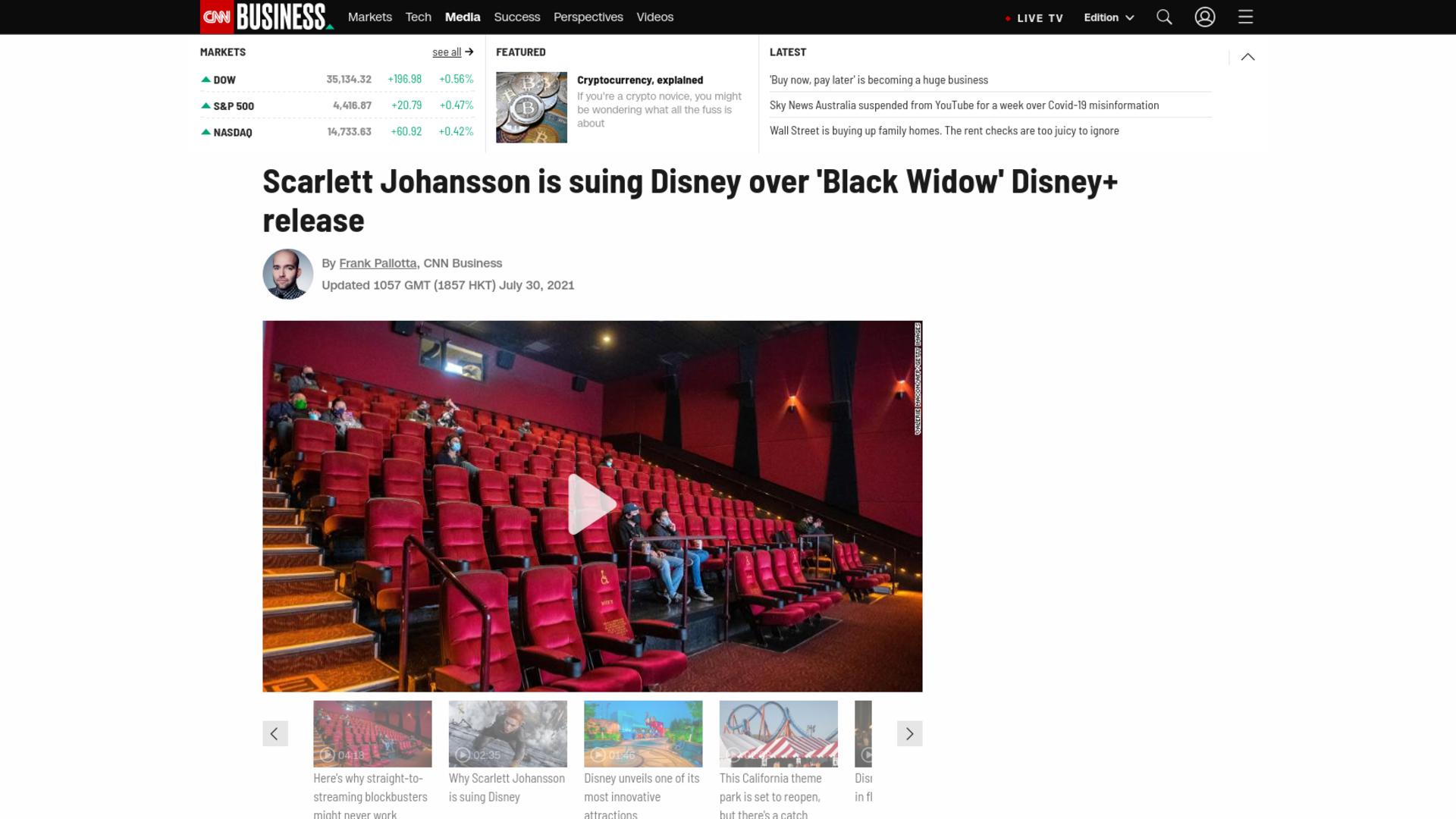 Fairness Rocks News Scarlett Johansson is suing Disney over 'Black Widow' Disney+ release