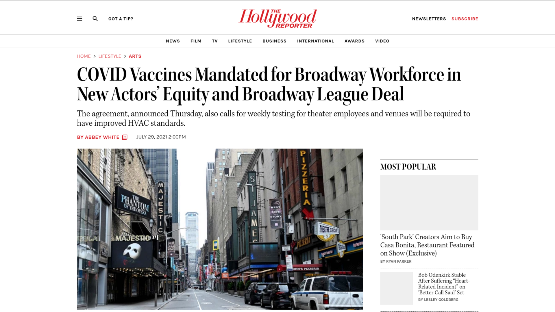 Fairness Rocks News COVID Vaccines Mandated for Broadway Workforce in New Actors' Equity and Broadway League Deal