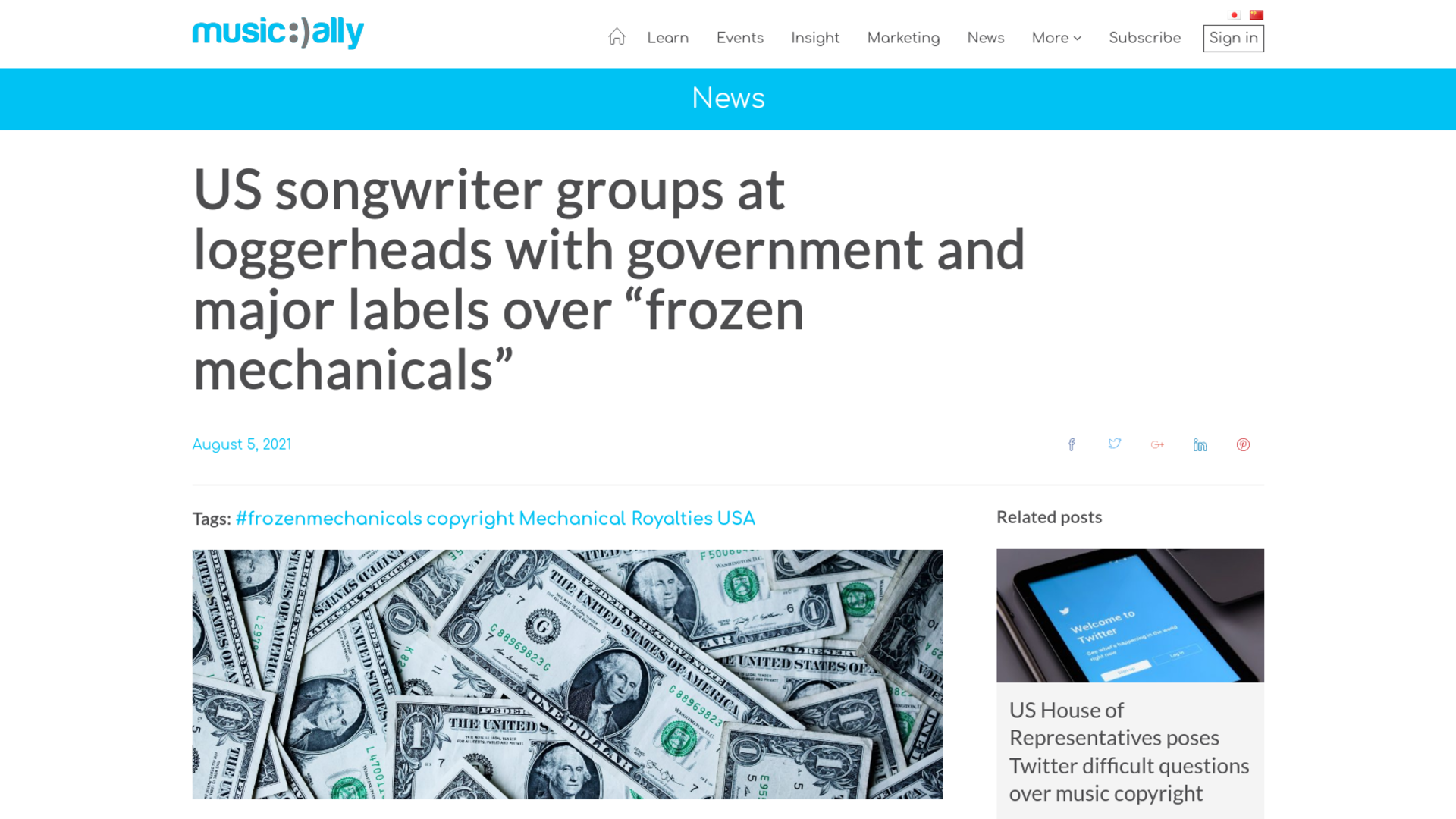 """Fairness Rocks News US songwriter groups at loggerheads with government and major labels over """"frozen mechanicals"""""""