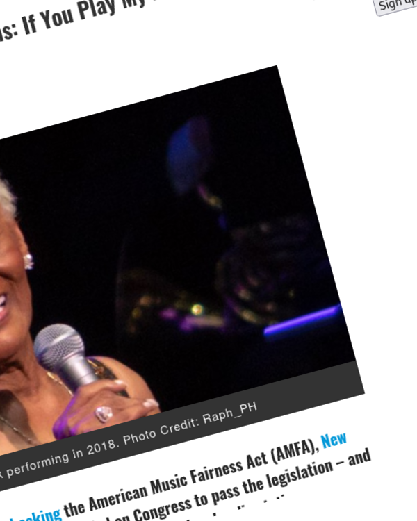 Fairness Rocks News Dionne Warwick Tells Radio Stations: If You Play My Music, Pay Me for My Music