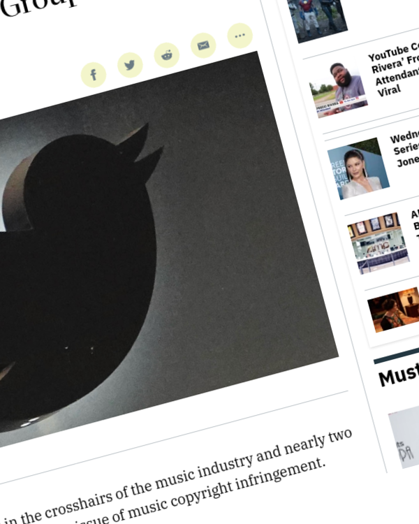 Fairness Rocks News Twitter Is Turning a Blind Eye to Music Copyright Infringement, Group of U.S. Reps Says