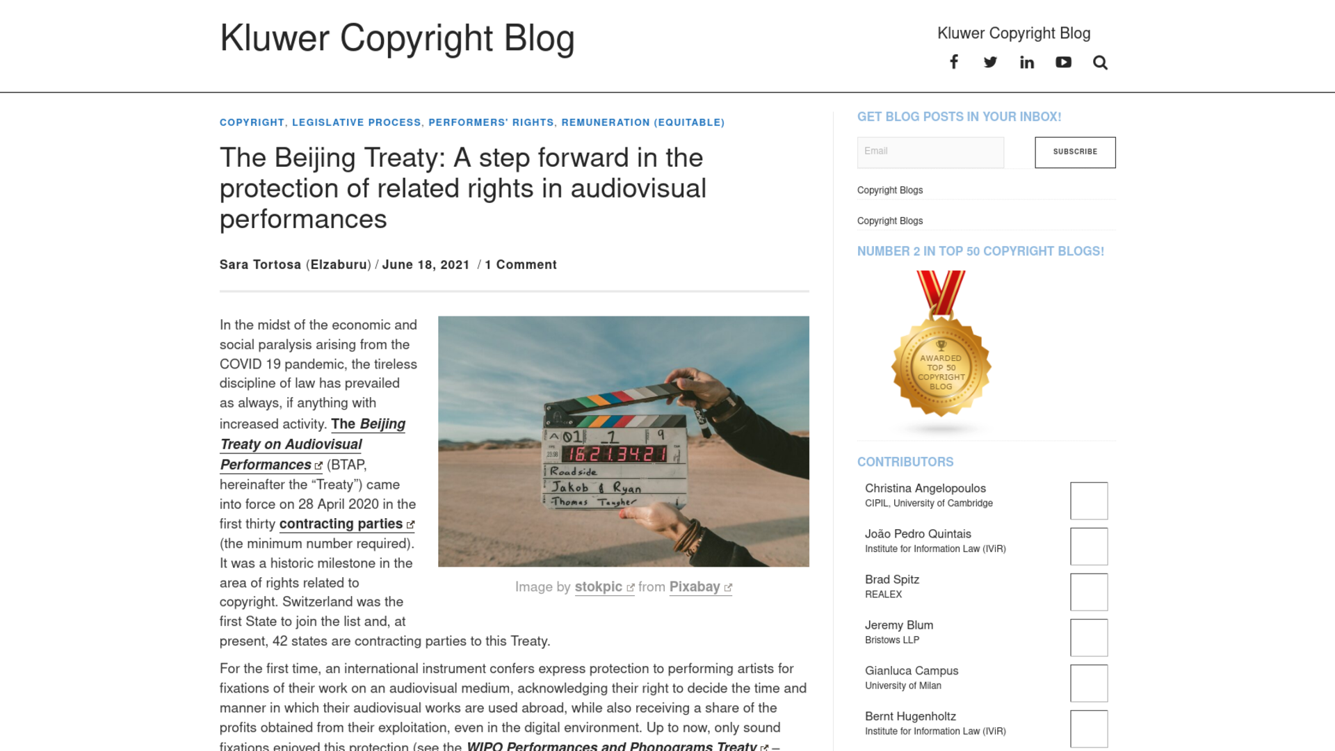 Fairness Rocks News The Beijing Treaty: A step forward in the protection of related rights in audiovisual performances