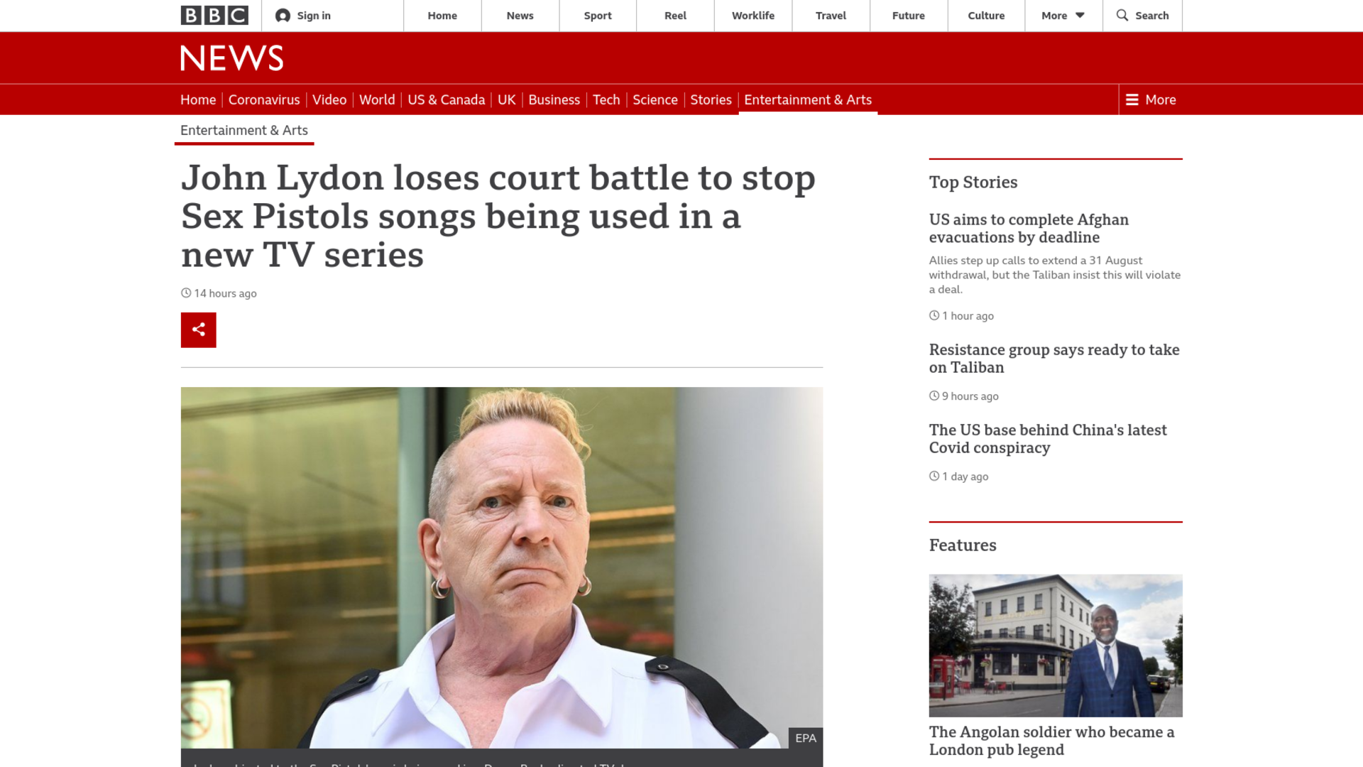 Fairness Rocks News John Lydon loses court battle to stop Sex Pistols songs being used in a new TV series