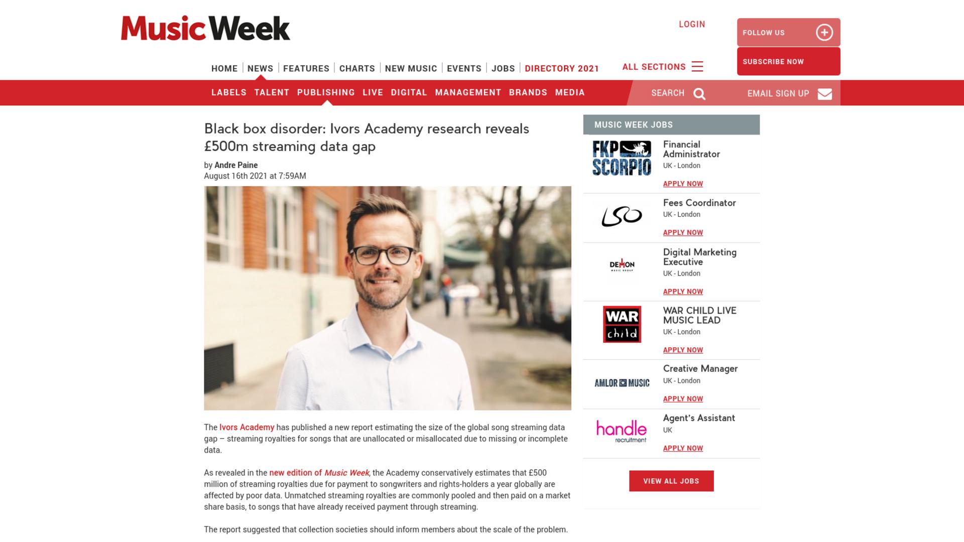 Fairness Rocks News Black box disorder: Ivors Academy research reveals £500m streaming data gap