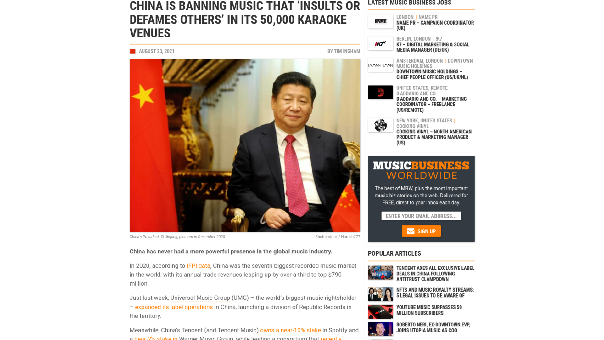 Fairness Rocks News China is banning music that 'insults or defames others' in its 50,000 karaoke venues