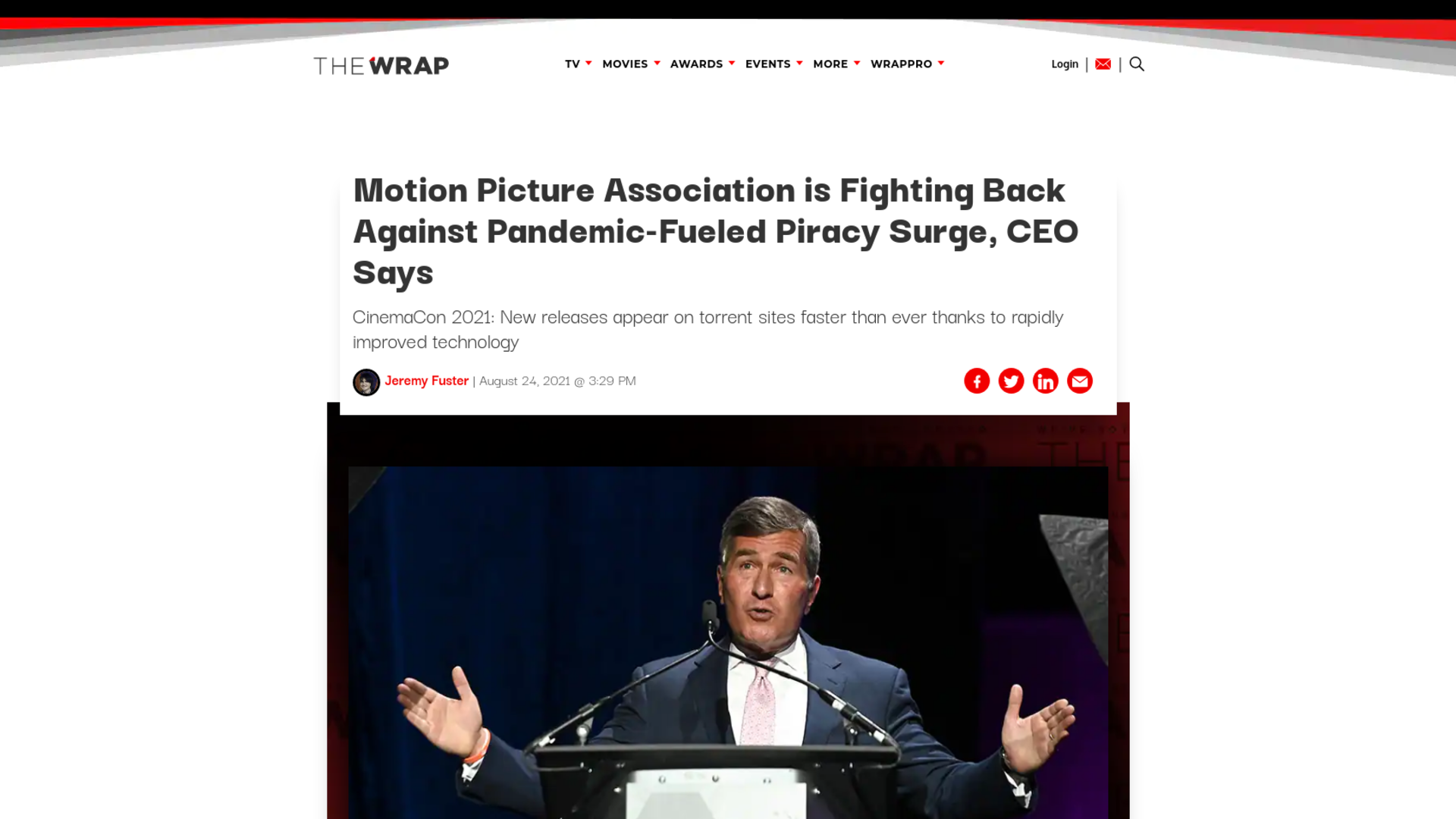 Fairness Rocks News Motion Picture Association is Fighting Back Against Pandemic-Fueled Piracy Surge, CEO Says