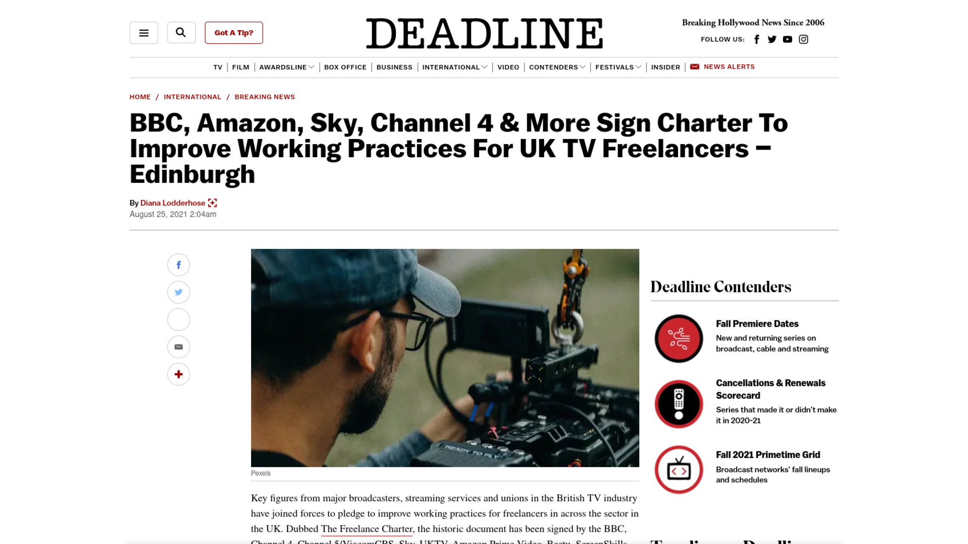 Fairness Rocks News BBC, Amazon, Sky, Channel 4 & More Sign Charter To Improve Working Practices For UK TV Freelancers – Edinburgh