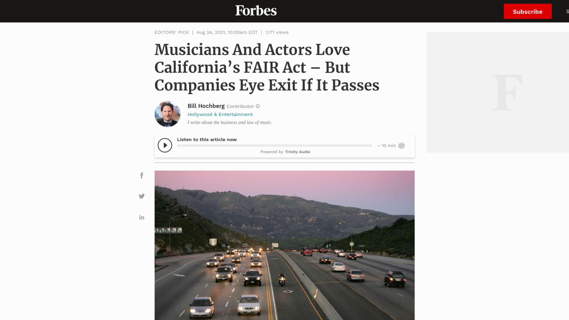 Fairness Rocks News Musicians And Actors Love California's FAIR Act – But Companies Eye Exit If It Passes