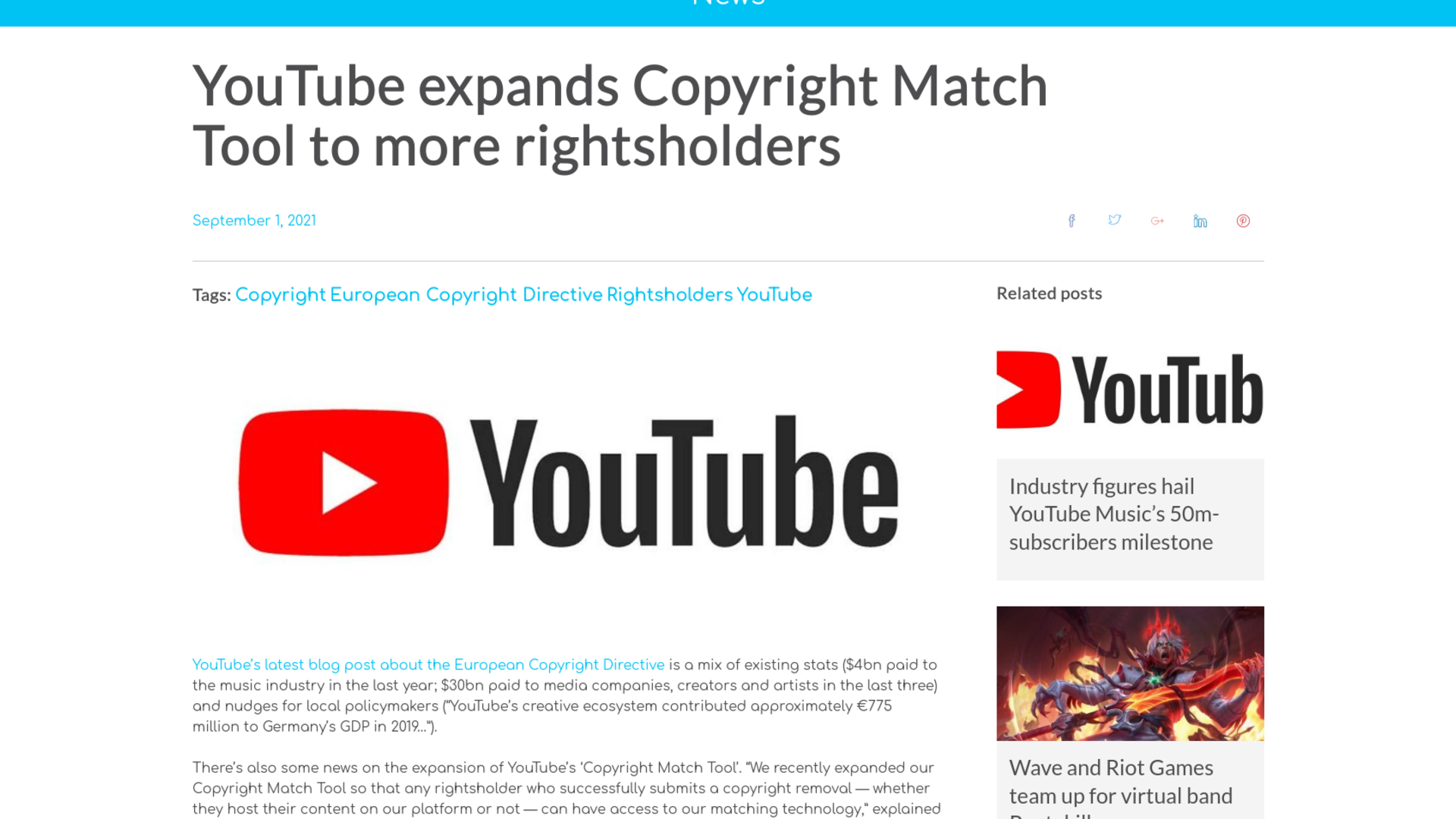 Fairness Rocks News YouTube expands Copyright Match Tool to more rightsholders