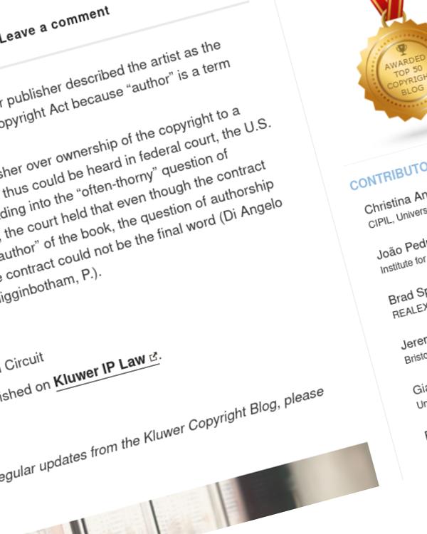Fairness Rocks News Copyright case: Di Angelo Publications Inc. v. Kelley, USA
