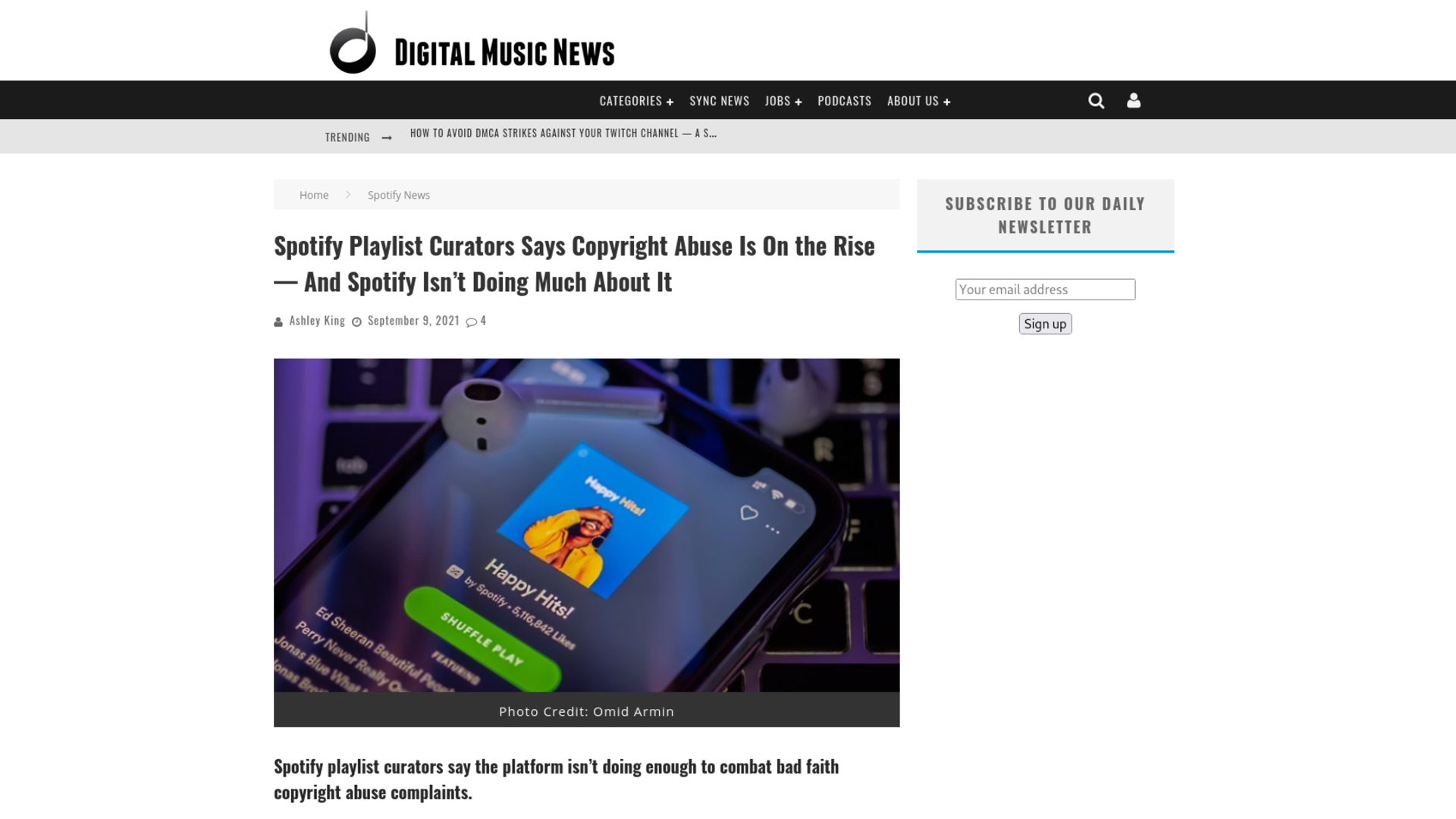 Fairness Rocks News Spotify Playlist Curators Says Copyright Abuse Is On the Rise — And Spotify Isn't Doing Much About It