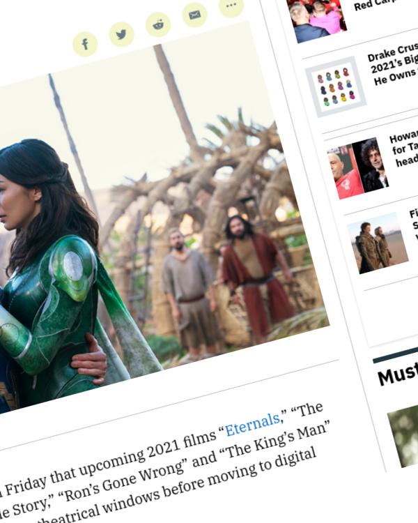 Fairness Rocks News Disney Releasing 'Eternals,' 'Encanto' Exclusively in Theaters