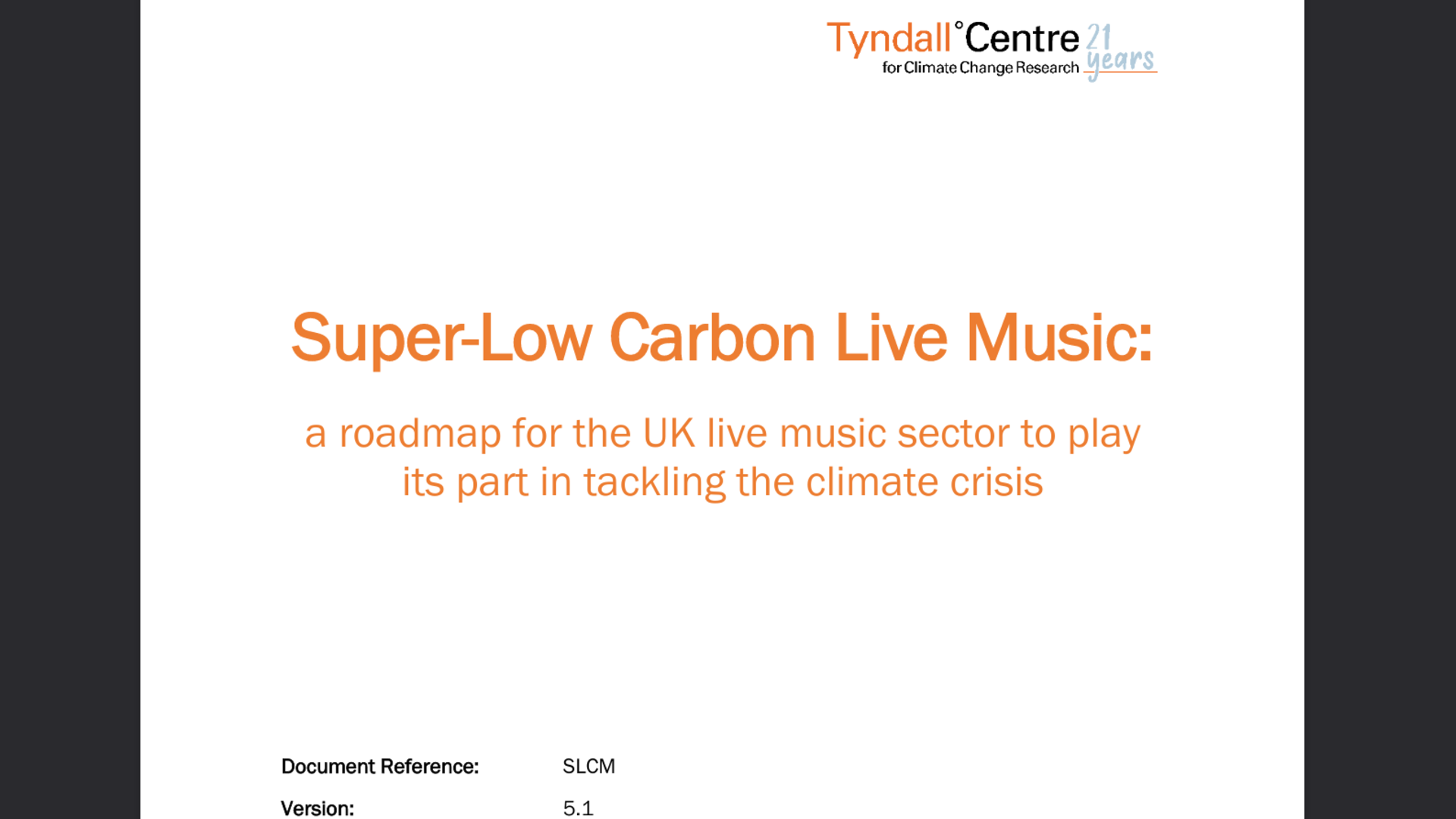 Fairness Rocks News Super-Low Carbon Live Music: a roadmap for the UK live music sector to play  its part in tackling the climate crisis