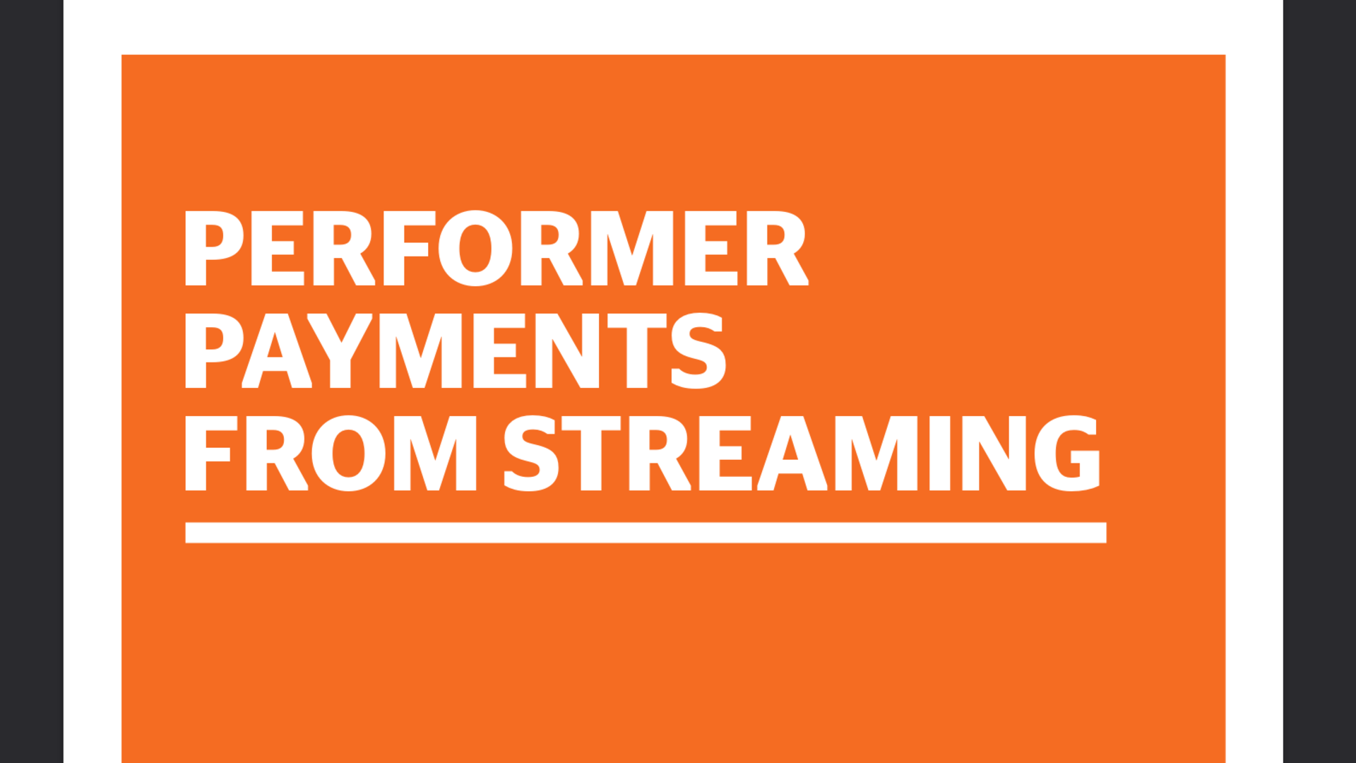 Fairness Rocks News Performer Payments from Streaming