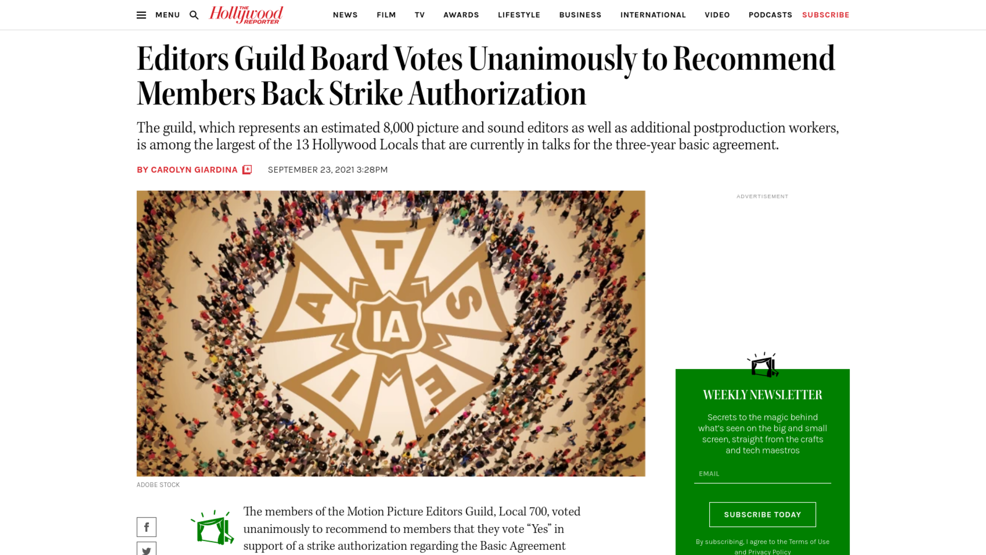 Fairness Rocks News Editors Guild Board Votes Unanimously to Recommend Members Back Strike Authorization