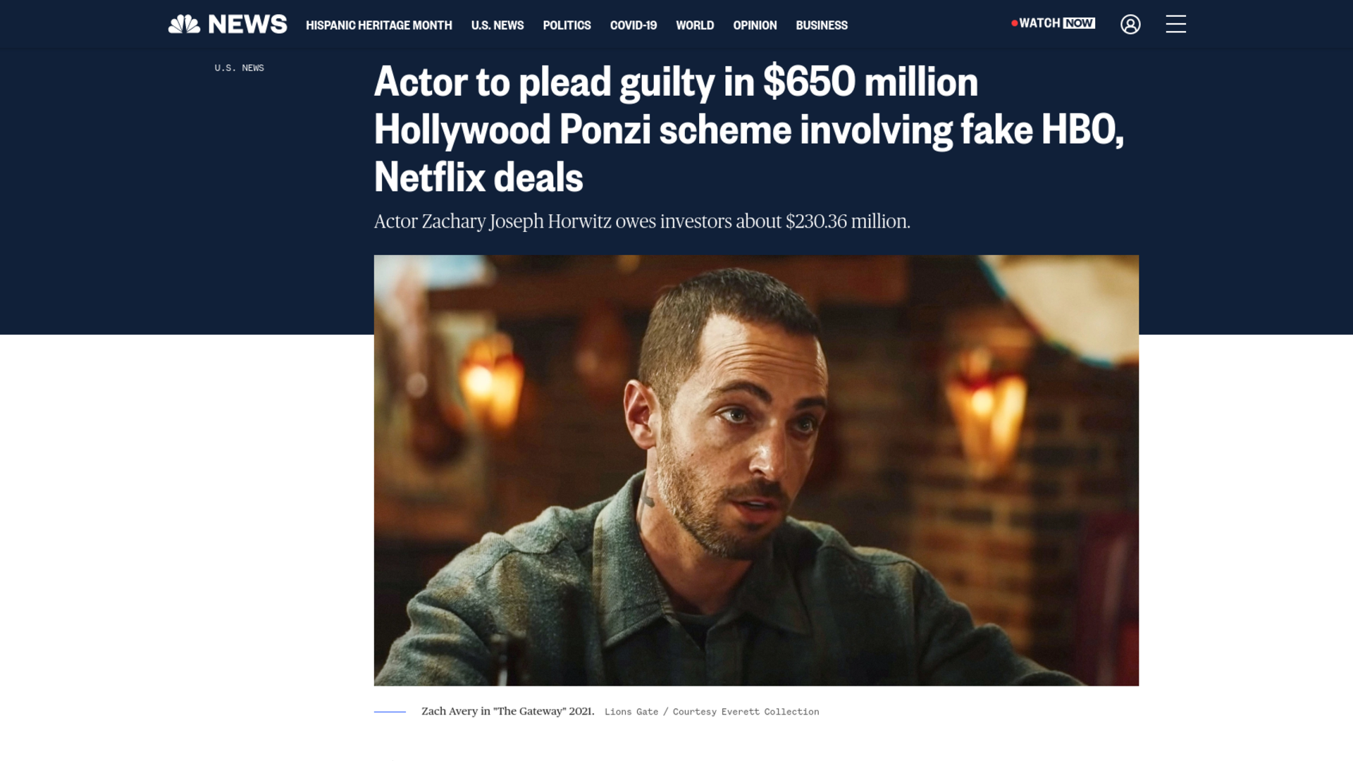 Fairness Rocks News Actor to plead guilty in $650 million Hollywood Ponzi scheme involving fake HBO, Netflix deals