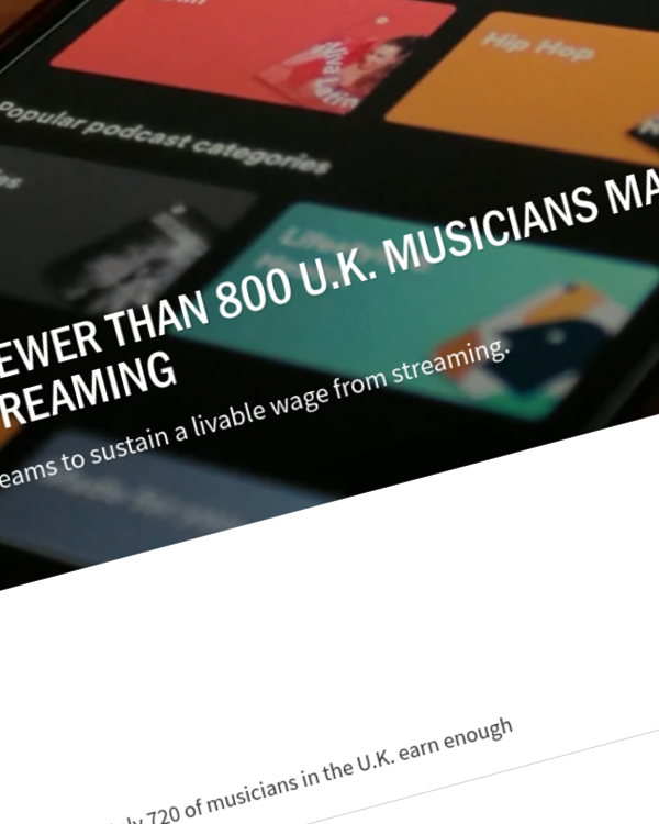 Fairness Rocks News New Study Reveals Fewer Than 800 U.K. Musicians Make Livable Wage From Music Streaming