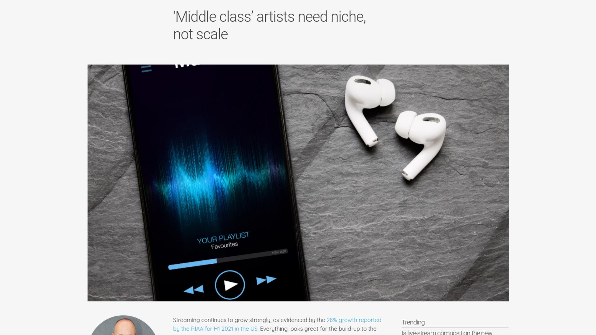 Fairness Rocks News 'Middle class' artists need niche, not scale